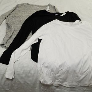 Lot of 3 Old Navy Long Sleeved Shirts Size XL New